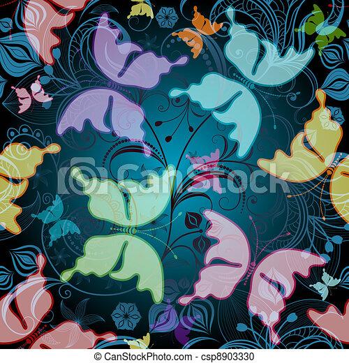 Seamless floral pattern - csp8903330