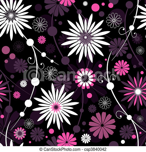 Seamless floral pattern (vector) - csp3840042