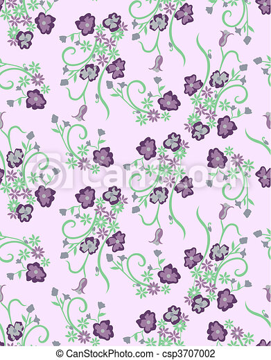 seamless flower pattern - csp3707002