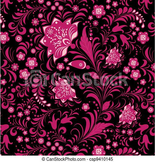 seamless flowers pattern - csp9410145
