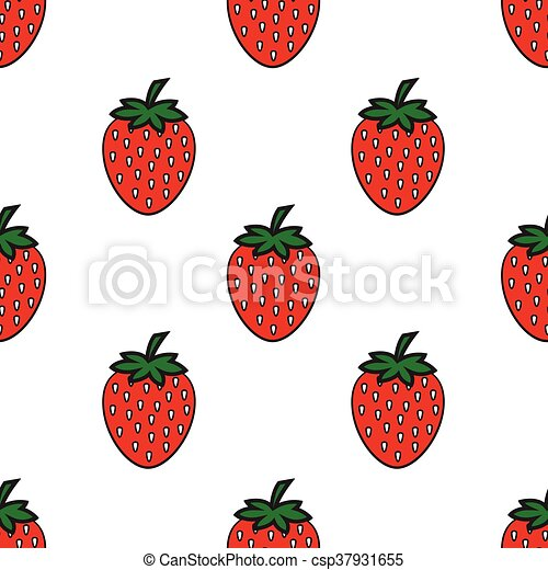 seamless pattern with Strawberry - csp37931655