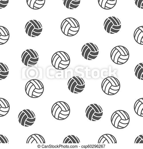 seamless pattern with volleyball - csp60296267