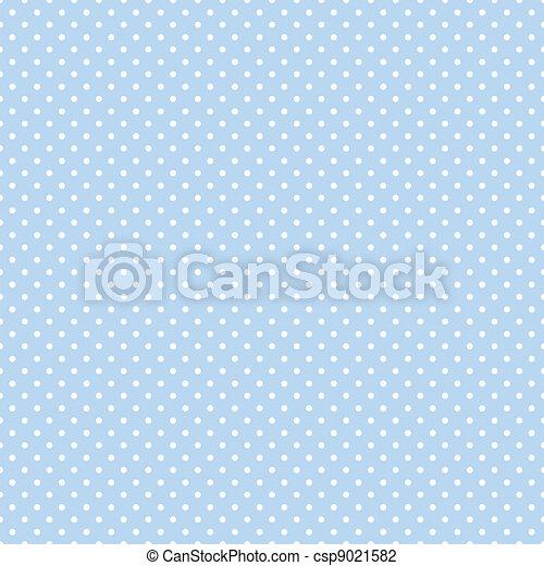 Seamless Polka Dots on Pastel Blue - csp9021582
