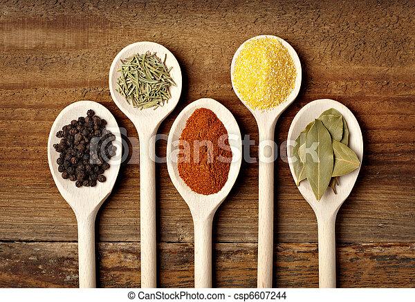 seasoning spice food ingredients - csp6607244