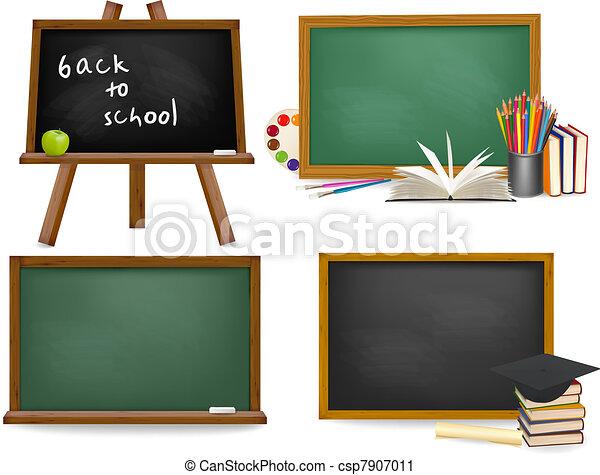 Set of school board blackboards. Ba - csp7907011