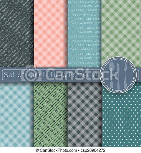 Set of Shopping Time Patterns - csp28904272