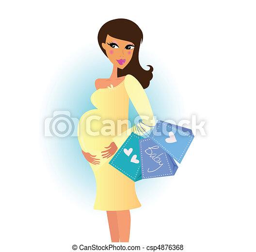 Shopping pregnant woman - csp4876368