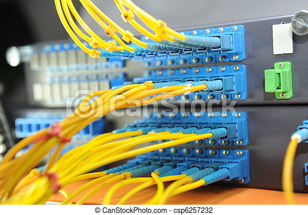 shot of network cables and servers in a technology data center - csp6257232