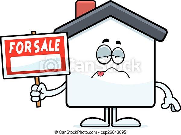 Sick Cartoon Home Sale - csp26643095