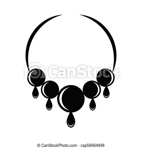 Silhouette of a necklace - csp59564936