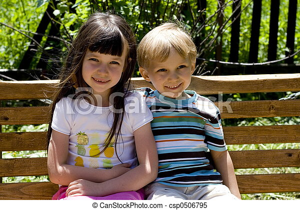 Sister with brother - csp0506795