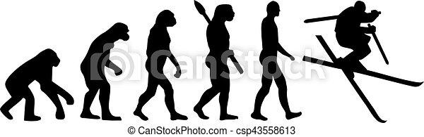 Ski Jump Evolution - csp43558613
