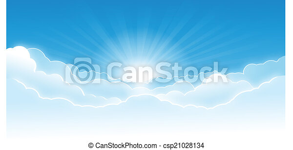 Sky with clouds - csp21028134