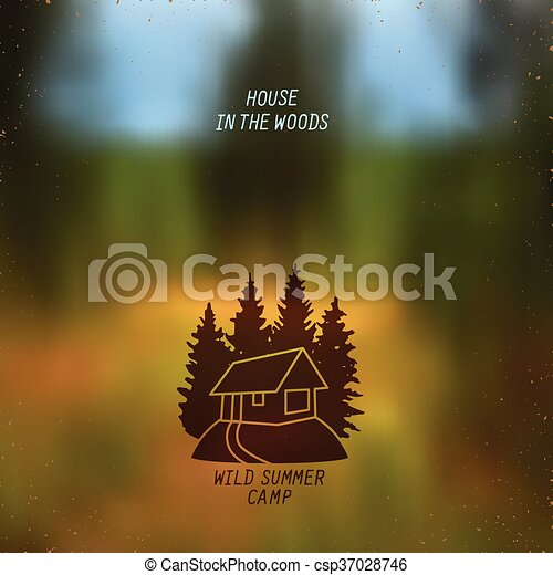 small house in the woods - csp37028746