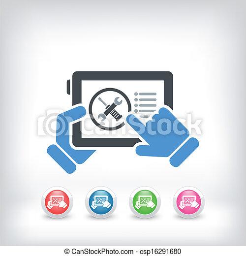 Smartphone setting icon - csp16291680