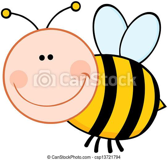 Smiling Bumble Bee - csp13721794