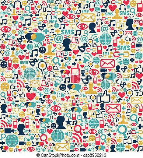 Social media network icons pattern - csp8952213
