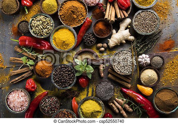 Spice Still Life, wooden bowl - csp52550740