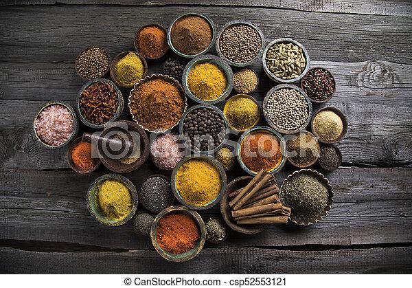 Spice Still Life, wooden bowl - csp52553121
