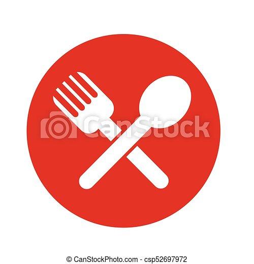 Spoon Fork Icon - csp52697972