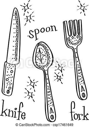 spoon fork knife - csp17461649