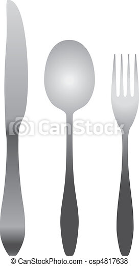 spoon, fork & knife - csp4817638