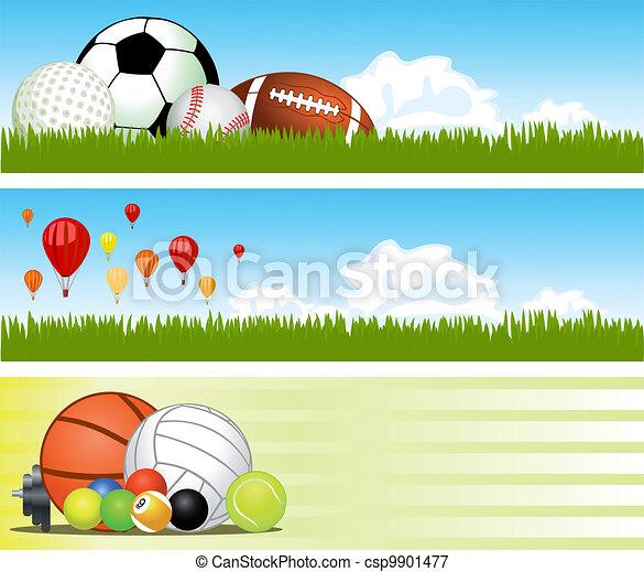 Sport banners. Vector - csp9901477