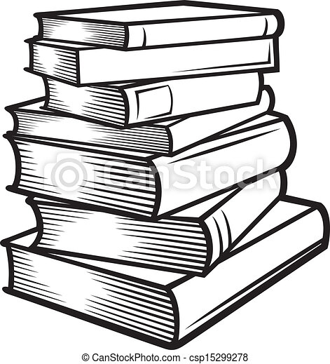 Stack of books (books stacked) - csp15299278