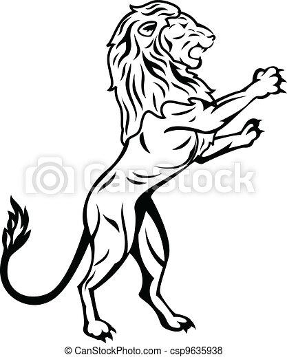 Standing Lion - csp9635938