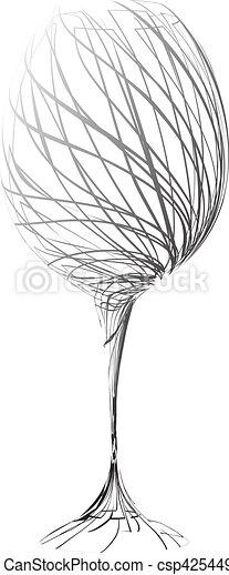 stylized wine glass - csp4254498