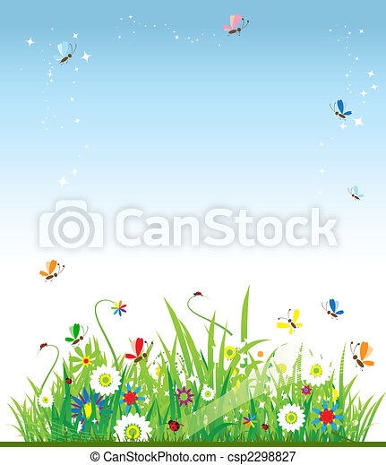 Summer meadow beautiful - csp2298827