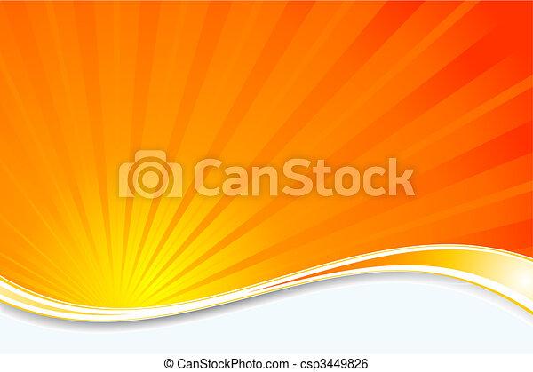 Sunburst background - csp3449826