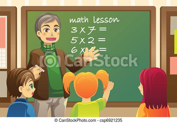 Teacher in classroom - csp6921235