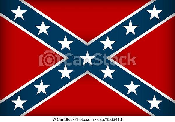 The Confederate flag. - csp71563418