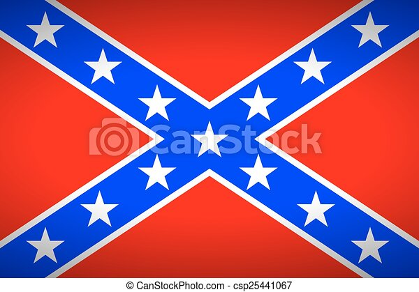 The Confederate flag. Very bright colors. - csp25441067