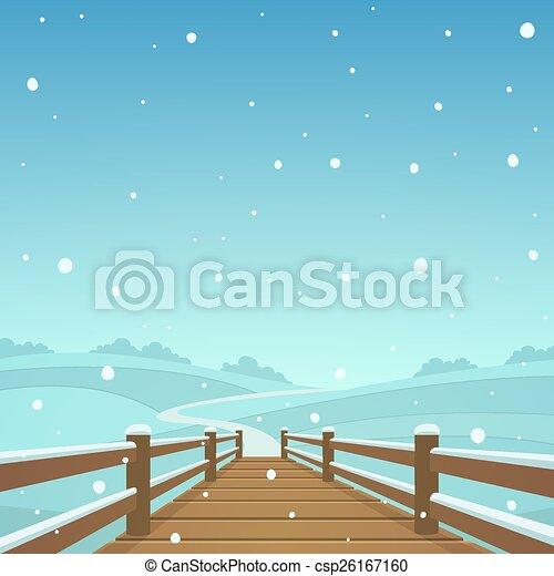 The wooden bridge - csp26167160