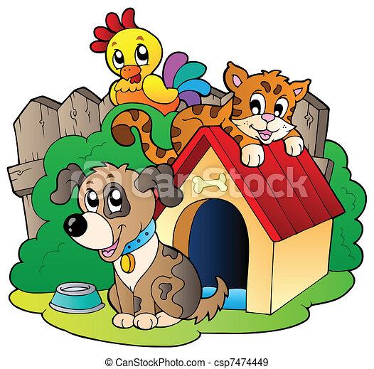 Three domestic animals - csp7474449