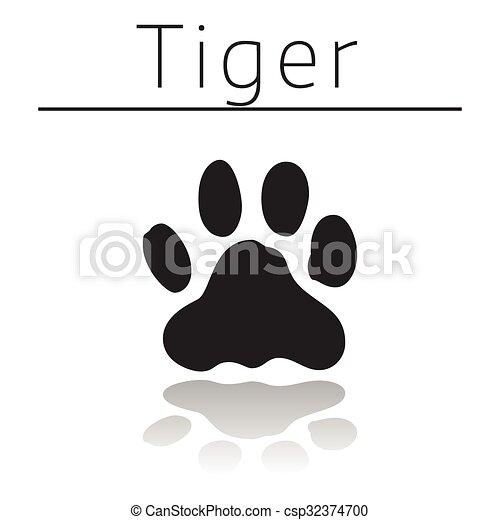 Tiger animal track - csp32374700