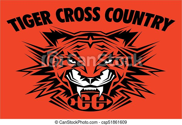 tiger cross country - csp51861609