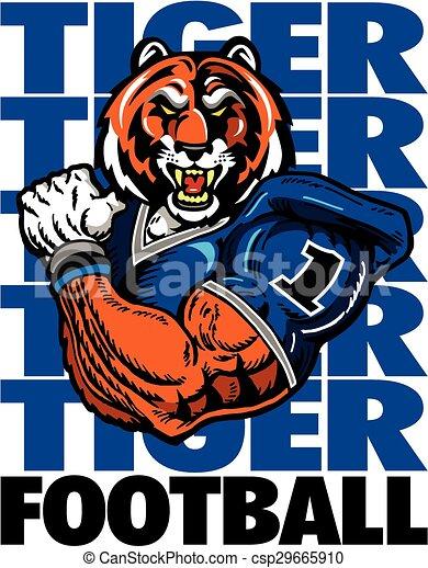 tiger football player - csp29665910