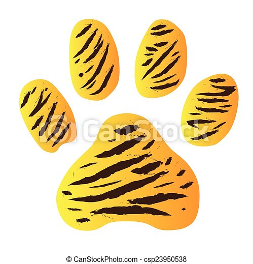 tiger footprint - csp23950538
