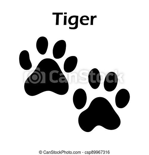 Tiger Footprint - csp89967316