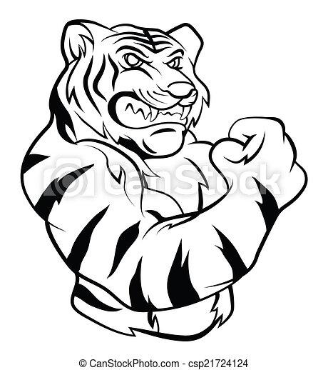 Tiger Mascot - csp21724124