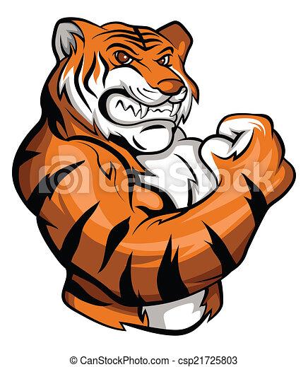 Tiger Mascot - csp21725803