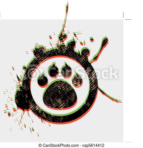 tiger paw - csp5614412
