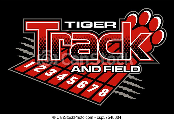 tiger track and field - csp57548884