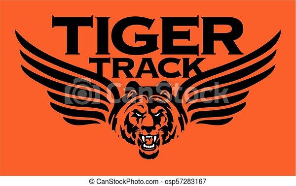 tiger track - csp57283167