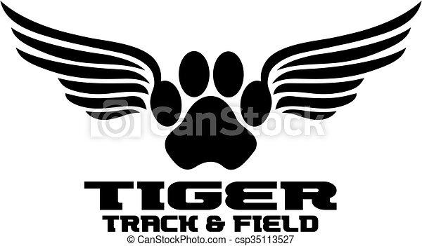 tiger track - csp35113527