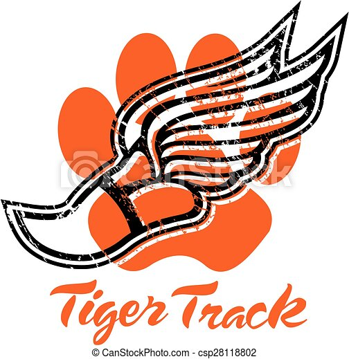 tiger track - csp28118802