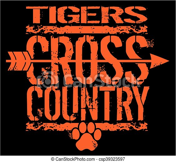 tigers cross country - csp39323597